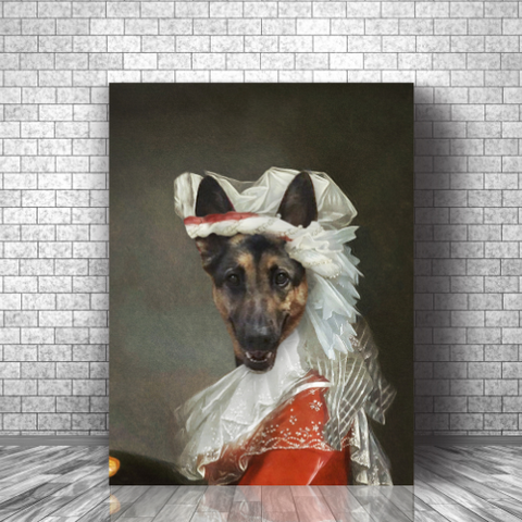 PRINCESS - CUSTOM DOG CANVAS (Premium)