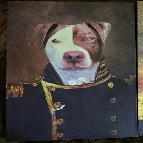 NAVY - CUSTOM DOG CANVAS (Premium)