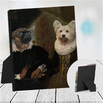 LORD WILLIAM & LADY SABINE - MULTI-PET TABLETOP CANVAS (Premium)