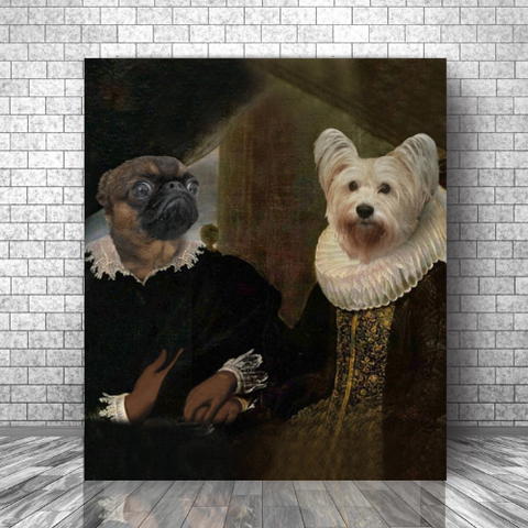 LORD WILLIAM & LADY SABINE - MULTI-PET CANVAS (Premium)