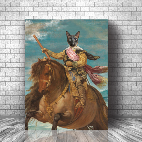 HORSE WARRIOR - CUSTOM CAT CANVAS (Premium)