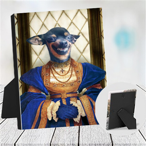 FAITHFUL LADY - CUSTOM DOG TABLETOP CANVAS (Premium)