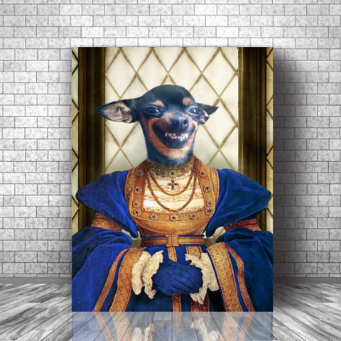 FAITHFUL LADY - CUSTOM DOG CANVAS (Premium)