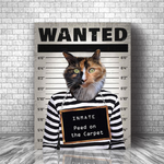PAWING INMATE - CUSTOM DOG CANVAS (Premium)