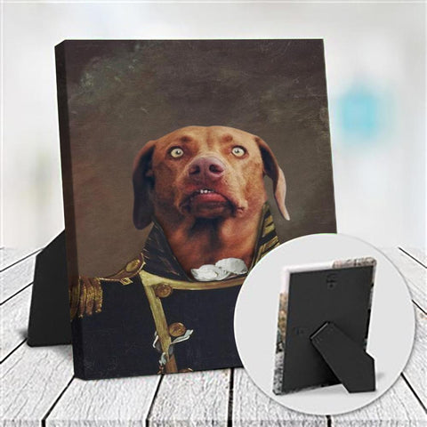 NAVY - CUSTOM DOG TABLETOP CANVAS (Premium)