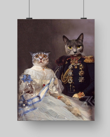 LADY BRIDGET & GENERAL HUBERT - MULTI-PET POSTER (Premium)