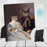 LADY BRIDGET & GENERAL HUBERT - MULTI-PET TABLETOP CANVAS (Premium)