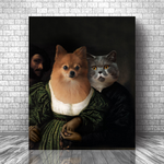 HAPPY ROMANCE - CUSTOM MULTI-PET CANVAS (Premium)
