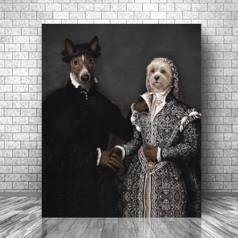 LORD ALEXANDER & LADY URSULA - CUSTOM MULTI-PET CANVAS (Premium)
