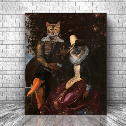 LORD GERMAIN & LADY ANNE - CUSTOM MULTI-PET CANVAS (Premium)