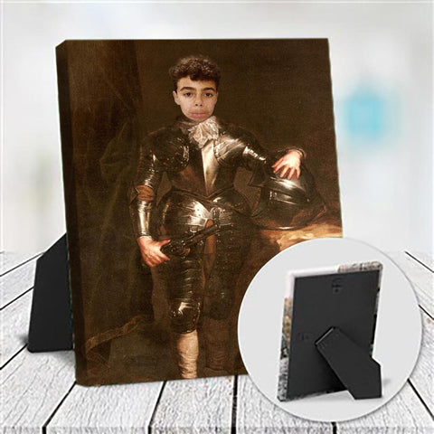 YOUNG KNIGHT - CUSTOM KID TABLETOP CANVAS (Premium)