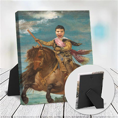 HORSE WARRIOR - CUSTOM KID TABLETOP CANVAS (Premium)