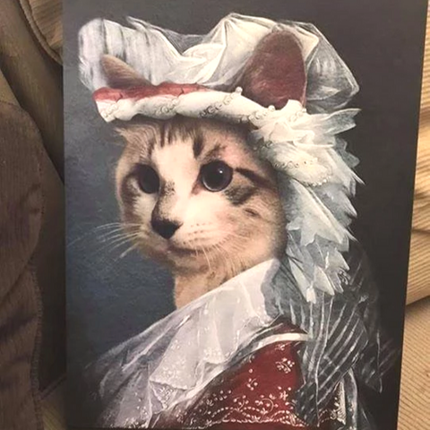 PRINCESS - CUSTOM CAT CANVAS (Premium)