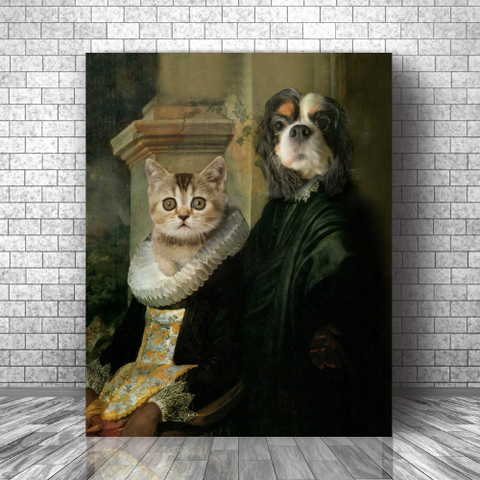 LORD ARCHIBALD & LADY LUCY - CUSTOM COUPLES CANVAS (Premium)