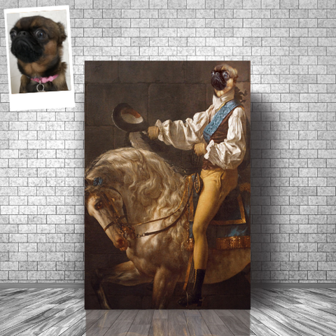 HORSE WHISPERER - CUSTOM DOG CANVAS (Premium)