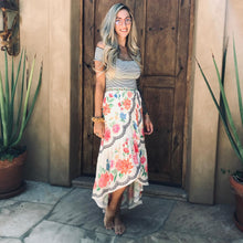 Load image into Gallery viewer, Floral Boho Skirt