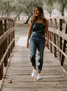Denim Stretch Overalls
