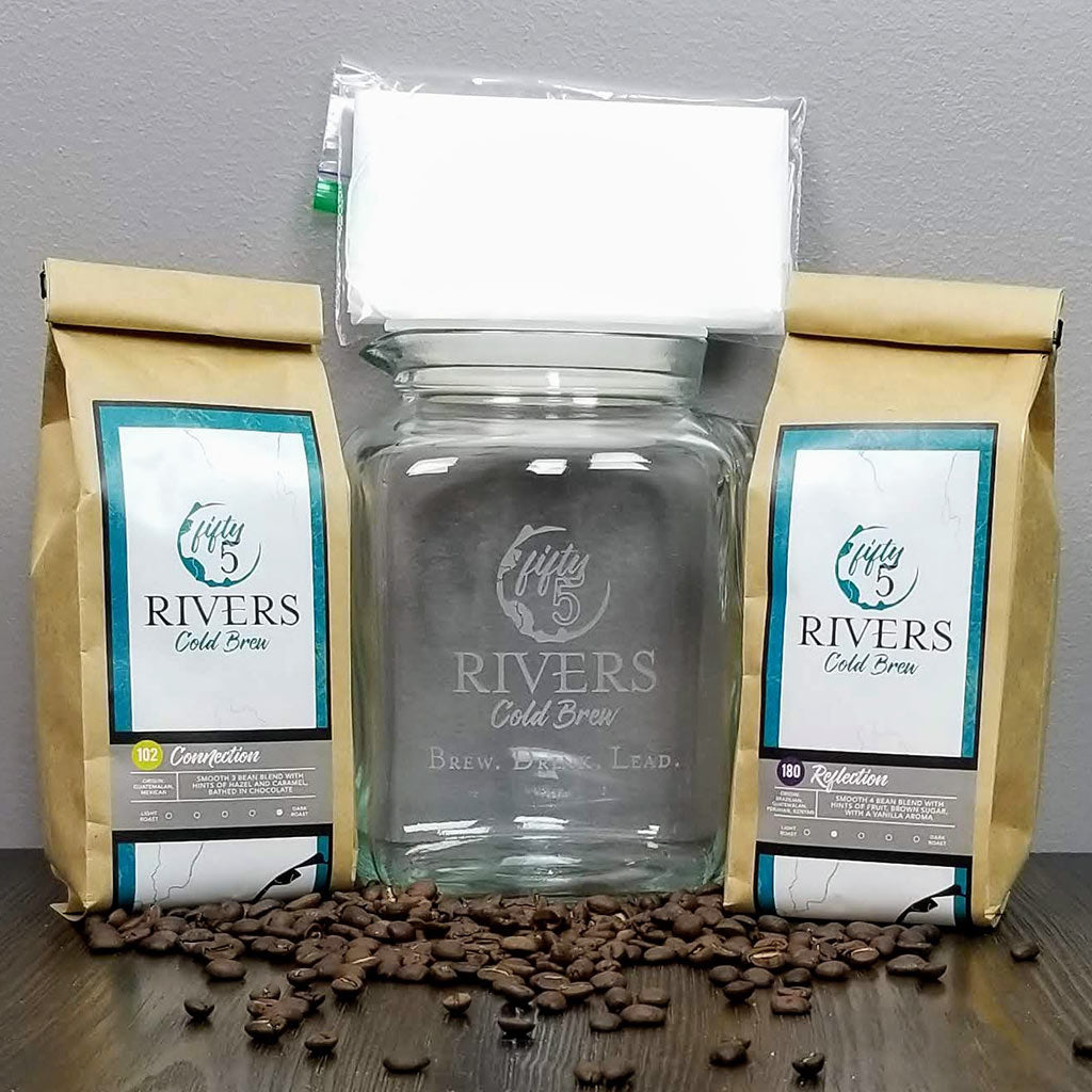 Cold brew coffee bean blend do it yourself kit for home, Reflection 180 and Connection 102