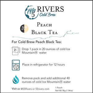 Peach Black Cold Brew Tea Instructions
