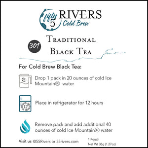 Traditional Cold Brew Black Tea Instructions