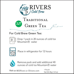 Cold Brew Green Tea Pack Instructions
