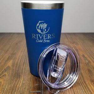 Cold brew beverage 16 ounce tumbler with lid