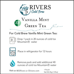 Vanilla Mint Green Cold Brew Tea Instructions