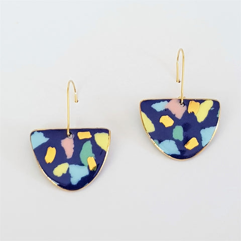 terrazzo style porcelain earrings
