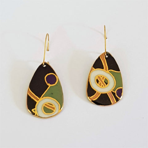 porcelain dangles in abstract design