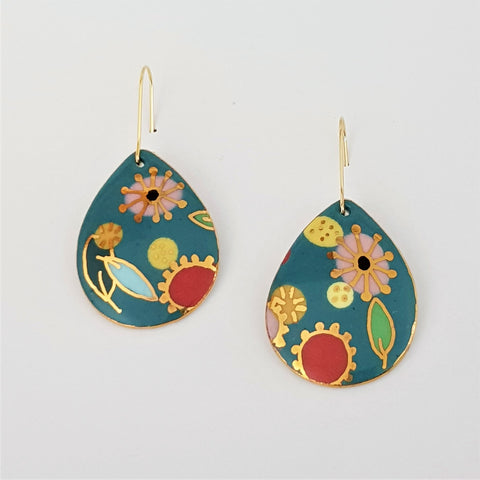 "Turquoise ""Straya"" drop earrings 2"