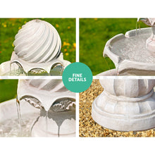 Load image into Gallery viewer, 3 Tier Solar Powered Water Fountain - Ivory