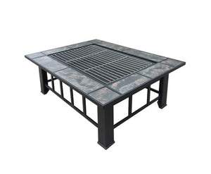 Outdoor Fire Pit BBQ Grill Rectangular 2in1 and Free Delivery