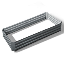 Load image into Gallery viewer, Greenfingers Galvanised Steel Raised Garden Bed Instant Planter 210 x 90 Aluminium