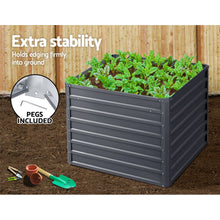 Load image into Gallery viewer, Greenfingers Garden Bed 2PCS 100X100X77CM Galvanised Steel Raised Planter