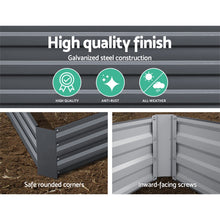 Load image into Gallery viewer, Greenfingers Garden Bed 2PCS 210X90X30cm  Galvanised Steel Raised Planter