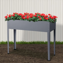 Load image into Gallery viewer, Greenfingers Garden Bed 100X80X30CM Galvanised Steel Raised Planter Standing Box