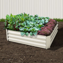 Load image into Gallery viewer, Green Fingers Set of 2 120 x 90cm Raised Garden Bed - Cream