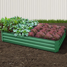 Load image into Gallery viewer, Greenfingers Garden Bed 2PCS 210X90X30cm  Galvanised Steel Raised Planter Green