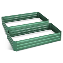 Load image into Gallery viewer, Greenfingers Garden Bed 150cm x 90cm 2x Galvanised Steel Raised Green Planter