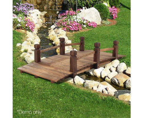 Wooden Garden Bridge 160cm