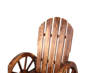 Rocking Chair Outdoor Garden Wagon Wheels