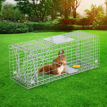Load image into Gallery viewer, Humane Animal Trap Cage 66 x 23 x 25cm  - Silver
