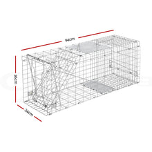 Load image into Gallery viewer, Humane Animal Trap Cage 94 x 34 x 36cm  - Silver