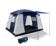Load image into Gallery viewer, 6 Person Dome Camping Tent - Navy and Grey with free delivery