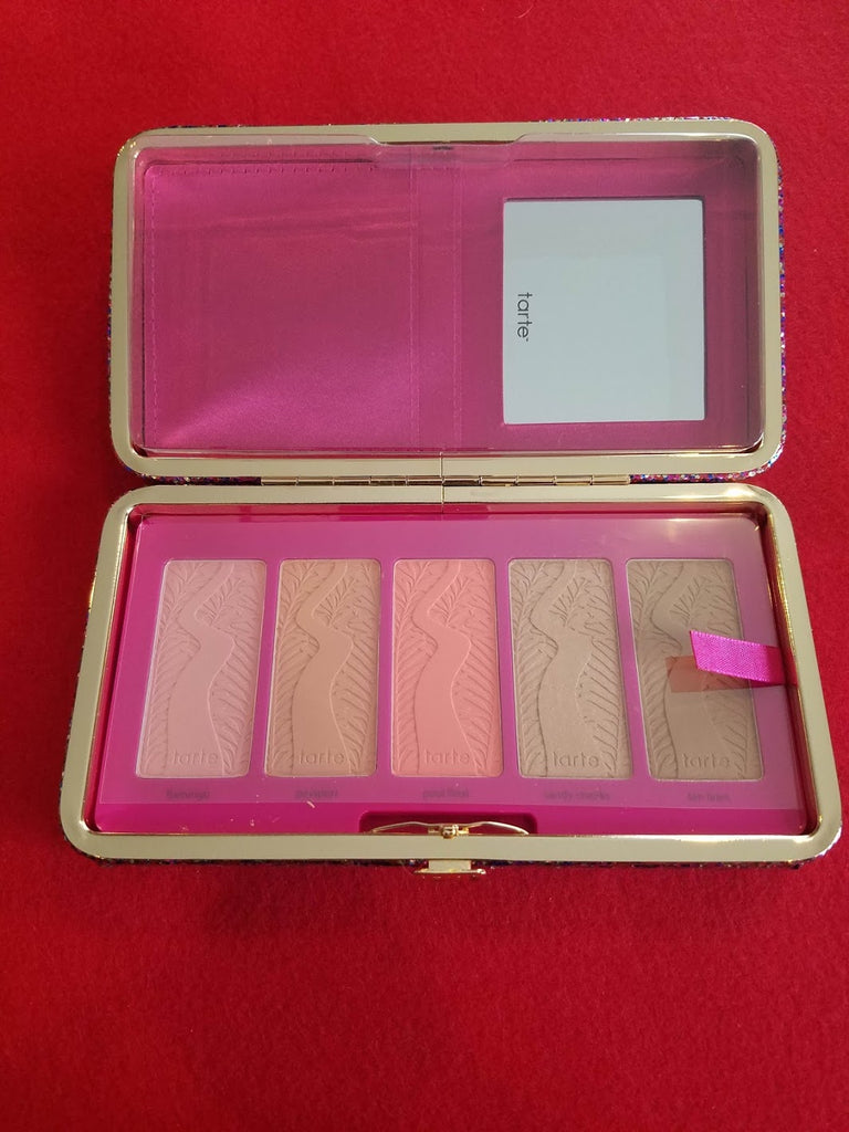 TARTE Life Of The Party Clay Blush Palette & Clutch ❤️ 100% Authentic - I Have Cosmetics