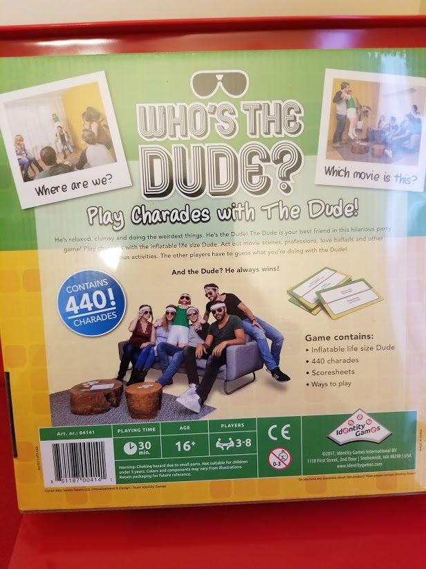 Who's The Dude Game - Play Charades - Identity Games - Party Games - New in Box - I Have Cosmetics