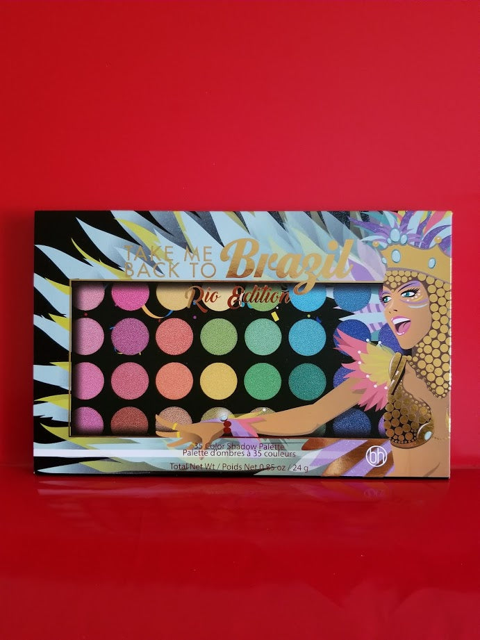 BH Cosmetics Take Me Back To Brazil: Rio Edition - 35 Color Shadow Palette ❤️ Authentic - I Have Cosmetics
