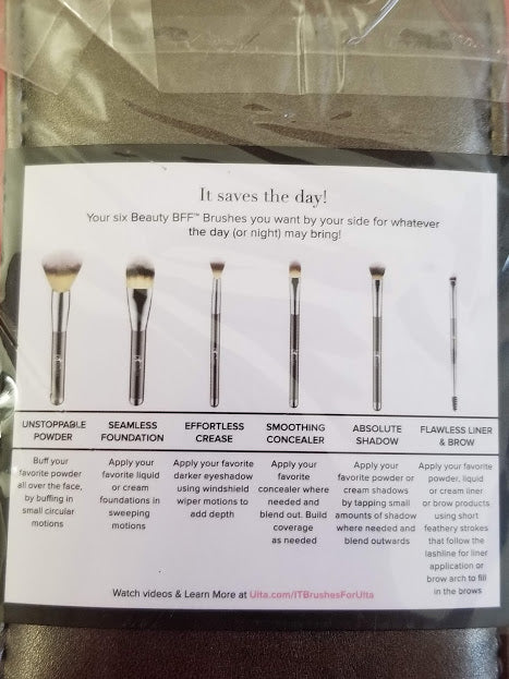 IT Cosmetics Your Superherores 6 piece Face & Eye Travel Brush Set ❤️ Authentic - I Have Cosmetics