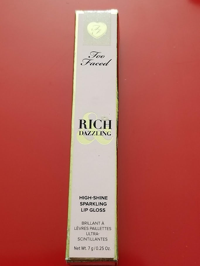 Too Faced Rich Dazzling High Shine Sparkling Lip Gloss .25 Oz ❤️ Authentic - I Have Cosmetics