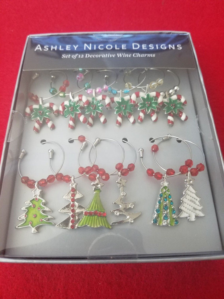 Ashley Nicole Designs Set Of 12 Decorative Wine_ Charms ❤️ 100% Authentic - I Have Cosmetics